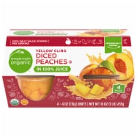 Simple Truth Organic™ Yellow Cling Diced Peaches - 4 ct / 4 oz