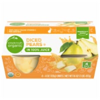 Simple Truth Organic™ Diced Pears in 100% Juice - 4 ct / 4 oz