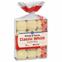 Kroger® Brown & Serve Classic White Enriched Rolls - 12 ct / 12 oz