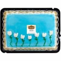 Bakery Fresh Goodness Blue Buttercream Iced Tulip Marble Sheet Cake