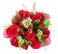 BLOOM HAUS™ Enchanted Hot Pink Rose Boquet