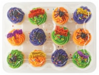 Bakery Fresh Goodness Assorted Iced & Decorated Halloween White Cake Cupcakes - 12 ct / 18 oz