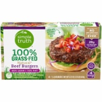 Simple Truth® 100% Grass-Fed Natural Beef Burgers - 4 ct / 21.3 oz