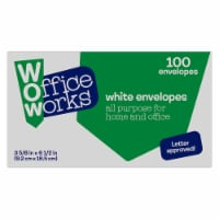 Office Works Envelopes - 100 Pack - White