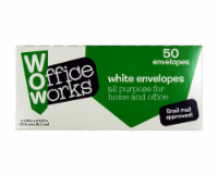 Office Works Envelopes - 50 Pack - White
