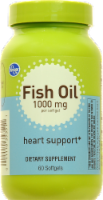 Kroger® Heart Support Fish Oil Softgels 1000mg 60 Count