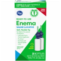 Kroger® Ready-to-Use Enema Saline Laxative Twin Pack