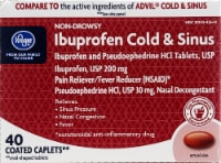 Kroger® Ibuprofen Cold & Sinus 200mg Coated Caplets