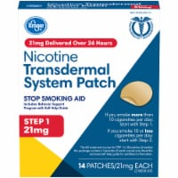Kroger® Step 1 Stop Smoking Aid Nicotine Transdermal System Patches 21mg