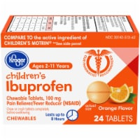 Kroger® Orange Flavor Junior Strength Ibuprofen Chewable Tablets 100mg