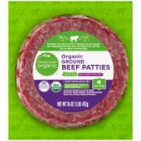 Simple Truth Organic® 85% Lean Grass-Fed Ground Beef Patties