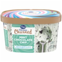 Kroger® Deluxe Churned Mint Chocolate Chip Light Ice Cream