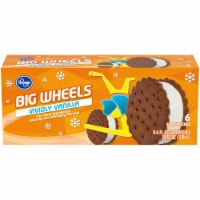 Kroger® Big Wheels Vividly Vanilla Ice Cream Sandwiches 6 Ct Box