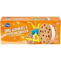 Kroger® Big Wheels Chocolate Chip Cookie Ice Cream Sandwiches 6 Ct  Box