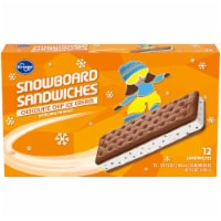 Kroger® Chocolate Chip Ice Cream Snowboard Sandwiches 12 Count