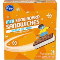 Kroger®  Mini Snowboard Vanilla Ice Cream Sandwiches 16 Count