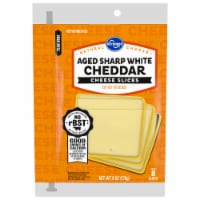 Kroger® Aged Sharp White Cheddar Cheese Slices 8 Count Package