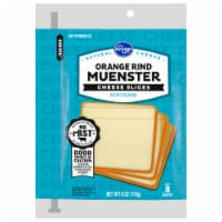 Kroger® Orange Rind Muenster Cheese Slices