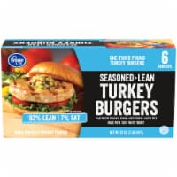 Kroger® 93% Lean Seasoned Turkey Burgers
