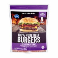 Kroger® 100% Pure Ground Beef Quarter Pound Burgers 8 Count