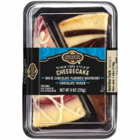 Private Selection® White Chocolate Raspberry Tuxedo Cheesecake Slices