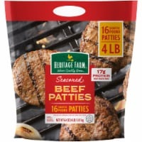 Heritage Farm™ Seasoned Quarter Pound Beef Patties 16 Count