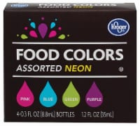 Kroger® Neon Food Coloring Kit