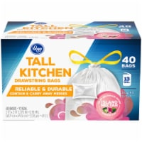 Kroger® Island Nectar Scented 13 Gallon Tall Kitchen Drawstring Trash Bags