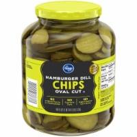 Kroger® Oval Cut Hamburger Dill Pickle Chips - 46 fl oz