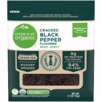 Simple Truth Organic™ Cracked Black Pepper Flavored Beef Jerky Bag