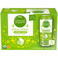 Simple Truth Organic™ Lemon Lime Seltzer Water - 8 cans / 12 fl oz