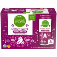 Simple Truth Organic™ Mixed Berry Seltzer Water - 8 cans / 12 fl oz