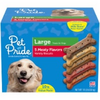Pet Pride® 5 Meaty Flavors Large Dog Treat Biscuits Value Pack
