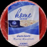 Kroger® Home Sense® Red Plastic Bowls