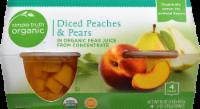 Simple Truth Organic™ Diced Peaches & Pears Bowls