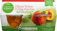 Simple Truth Organic™ Diced Yellow Cling Peaches Bowls 4 Count