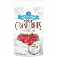 Kroger® 50% Less Sugar Sweetened Dried Cranberries