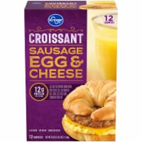 Kroger®  Sausage Egg & Cheese Croissants 12 Count