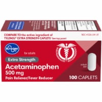 Kroger® Extra Strength Acetaminophen Pain Relief Caplets 500mg