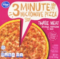 Kroger® 3 Minute Microwave Three Meat Pizza