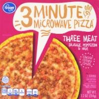 Kroger® 3 Minute Microwave Three Meat Pizza - 7.2 oz