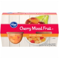 Kroger® Cherry Mixed Fruit in Light Syrup Snack Bowls 4 Count