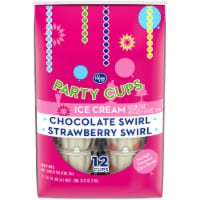Kroger® Chocolate Swirl and Strawberry Swirl Ice Cream Party Cups 12 Count