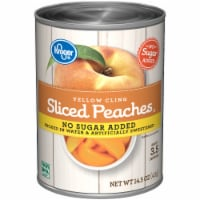 Kroger® No Sugar Added Yellow Cling Sliced Peaches