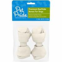 Pet Pride® Premium Beefhide 4-Inch Bones for Dogs