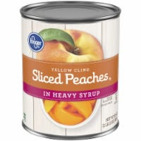 Kroger® Yellow Cling Sliced Peaches in Heavy Syrup - 29 oz