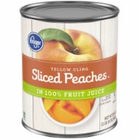 Kroger® Yellow Cling Sliced Peaches in 100% Fruit Juice