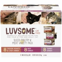 Luvsome™ Sliced Poultry & Meat Variety Pack Wet Cat Food