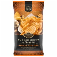 Private Selection® Smoked Gouda & Garlic Ripple-Cut Kettle Chips
