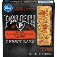 Kroger® Peanuts Dark Chocolate Flavored & Almonds Protein Chewy Bars 5 Count